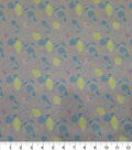 Quilter\u0027s Showcase Cotton Fabric-Dotted Floral Vines Lavender