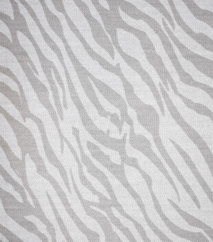 Stretch Denim Fabric-Gray Ivory Zebra