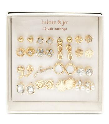 hildie & jo 16-pair Gold Earrings 2