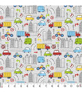 Snuggle Flannel Fabric-City Traffic
