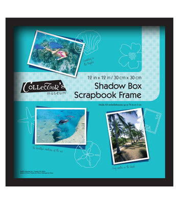 Collector's Museum Shadow Box Frame 12''x12''-Black