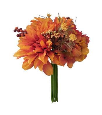 Blooming Autumn Peony, Dahlia, Hydrangea & Berry Bouquet-Rust