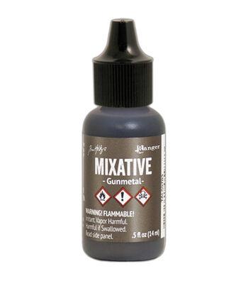 Tim Holtz Alcohol Ink Metallic Mixatives-Gunmetal