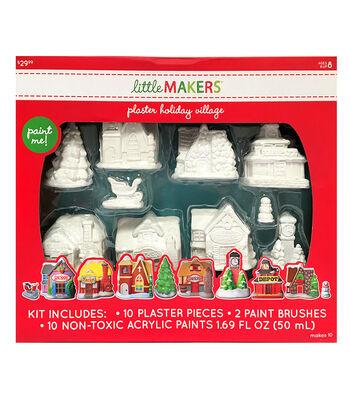 Little Maker's Plaster Kit-Holiday Village