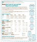 Kwik Sew Pattern K0227 Girls\u0027/18\u0027\u0027 Doll Ruffled, Top & Pants-Size XXS-L