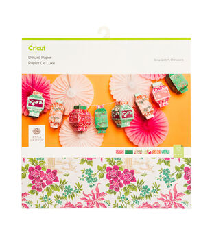 Cricut Anna Griffin 6 pk 12''x12'' Deluxe Papers-Chinoiserie