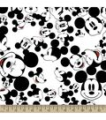 Disney Mickey Mouse Print Fabric-The Many Faces of Mickey