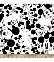 Disney Mickey Mouse Print Fabric-The Many Faces of Mickey, , hi-res