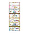 Smart Poly Clip Chart 9\u0022x24\u0022 French Confetti Positive Behavior 10pk