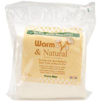 The Warm Company Warm & Natural Twin Size Cotton Needled Batting