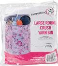 Everything Mary Round Yarn Bin 12.25\u0022X12.25\u0022X14\u0022-Large Crush Print