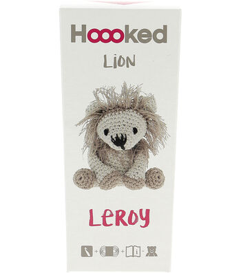 Hoooked Lion Leroy Yarn Kit with Eco Brabante Yarn-Beige & Taupe
