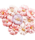 Prima Marketing Santorini 10 pk Pearlescent Paper Flowers-Athena