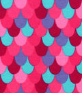 Snuggle Flannel Fabric -Pink Mermaid Scales