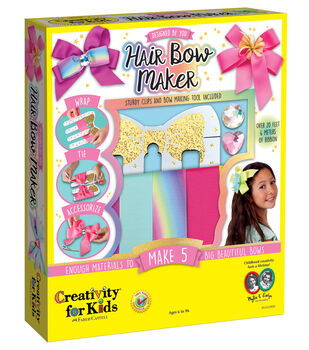 Creativity for Kids Designed by you Hair Bow Maker Kit