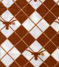 University of Texas Longhorns Fleece Fabric -Argyle