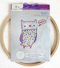 Owl Hand Embroidery Wall Art Kit