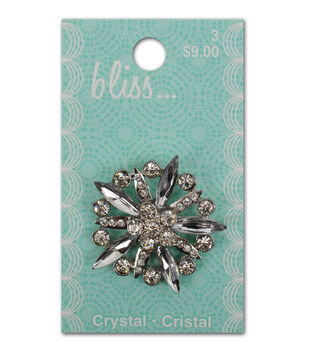 Bliss Crystal Burst Button