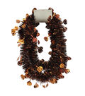 Maker\u0027s Halloween 9ft Pumpkin Tinsel Garland