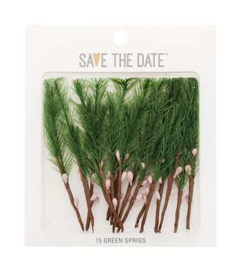 Save The Date Greenery Sprigs