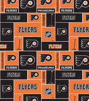 "Philadelphia Flyers Cotton Fabric 43""-Black, , hi-res"