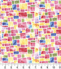 Premium Cotton Fabric -Speckled Squares Pink Pearl