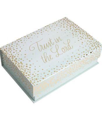 Organizing Essentials Medium Tab Box-Gold Sparkle