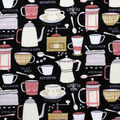 Super Snuggle Flannel Fabric-Time for Coffee