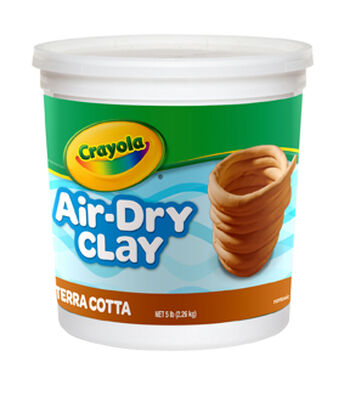 Crayola Terra Cotta Air Dry Clay 5lb
