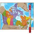 Hemispheres Laminated Map, Canada, 47\u0022 x 38\u0022