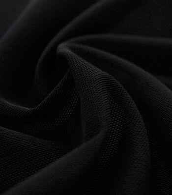 Super Mesh Performance Knit Fabric-Black