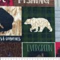 Anti-Pill Plush Fabric-Everest Word Patch