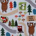 Snuggle Flannel Fabric -Woodland Bear Trail