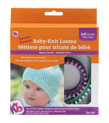 Knitting Board Baby Knit Looms 2/Pkg-Sizes 56 & 24 Peg