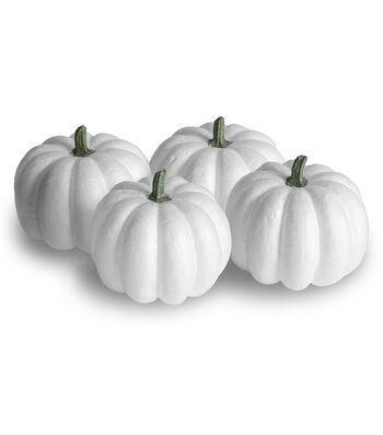 Floracraft Styrofoam  Pumpkins 4/Pkg