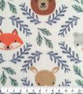 Nursery Fleece Fabric -Eamon Circle Faces