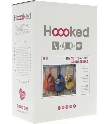 Hoooked Storage Bag Yarn Kit with Zpagetti Yarn-Medium Gray