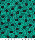 Quilter\u0027s Showcase Fabric -Pool Green & Black Floral