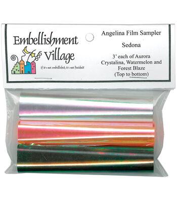 """Angelina Film Sampler 4""""X3' 3/Pkg-Aurora, Forest Blaze, Watermelon"""