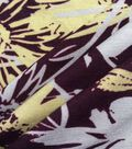Apparel Knit Fabric 57\u0027\u0027-White & Yellow Sketched Flowers on Purple