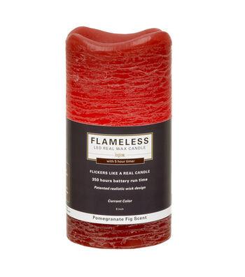 Inglow 3X6In Pillar Red Flameless