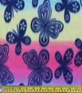 Blizzard Fleece Fabric 59\u0022-Butterfly On Tiedye