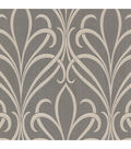 Lalique Brown Nouveau Damask Wallpaper Sample