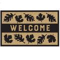 Simply Autumn 17.71\u0027\u0027x 29.52\u0027\u0027 Rubber Coir Mat-Welcome & Leaves