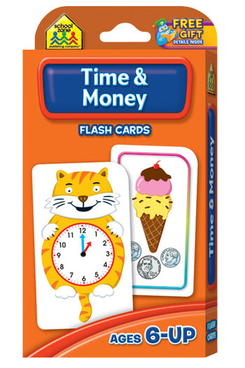 Flash Cards-Time & Money 50/Pkg