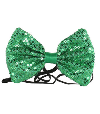 St. Patrick's Day Decor Sequin Bow Tie