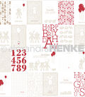 Baby Rocker Design Paper 12\u0022X12\u0022-Stuffed Animals w/Balloons Cards