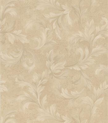 Florence Beige Scroll Wallpaper