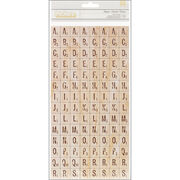 American Crafts Thickers Chipboard Alphabet Stickers-Natural Wood, , hi-res