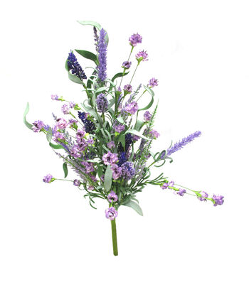 Fresh Picked Spring 22'' Lavender Mixed Bush